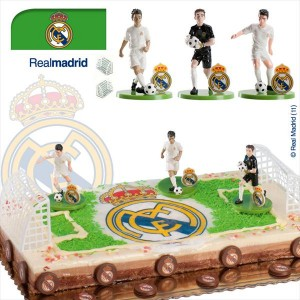 Kit tarta decoración Real Madrid