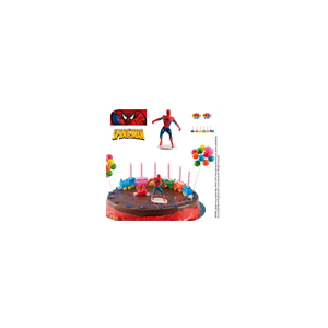 Kit tarta decoración Spider Man