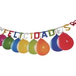Guirnalda Felicidades + 10 globos