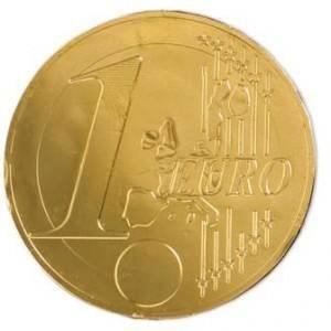 Moneda de chocolate grande