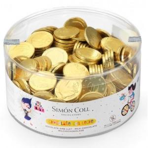 Moneda de chocolate pequeña