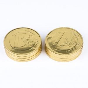 Moneda de chocolate mediana